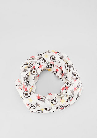 Snood with a football print from s.Oliver