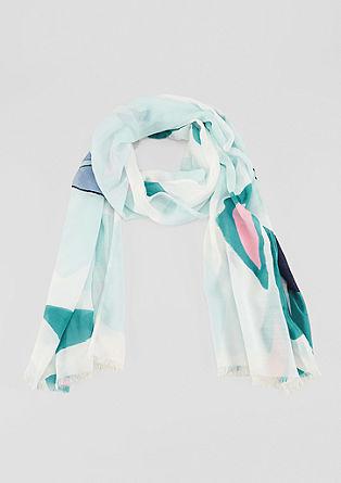 Zomersjaal met kleurrijke print