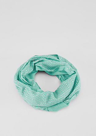 Snood with a metallic print from s.Oliver