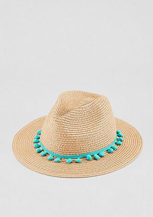 Chapeau de soleil bordé de pompons de s.Oliver