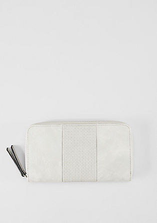 Zip-up purse with perforation from s.Oliver