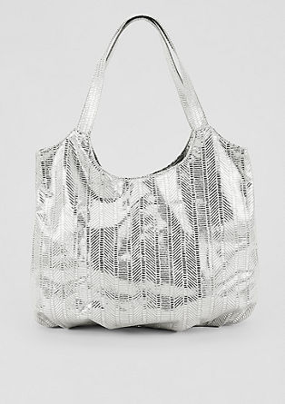 Shopper mit Metallic-Muster