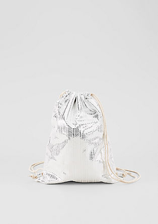 Gym bag with a metallic print from s.Oliver