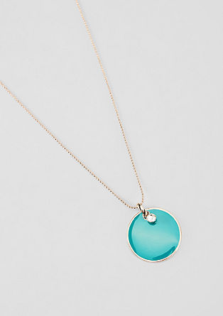 Ball chain with a coloured pendant from s.Oliver