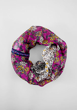 Écharpe tube ornée d'un mélange de motifs à fleurs de s.Oliver