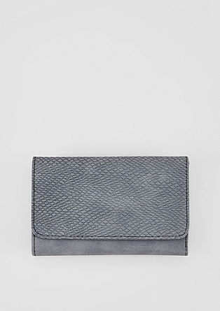 Flap purse with an animal texture from s.Oliver