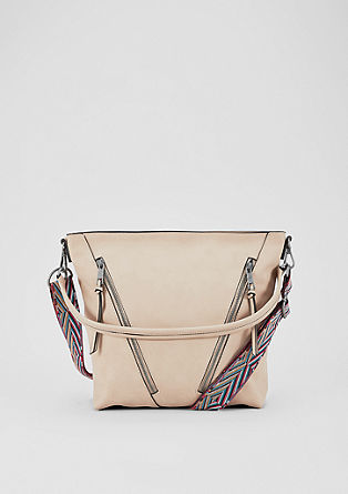 Hobo bag with a colourful strap from s.Oliver