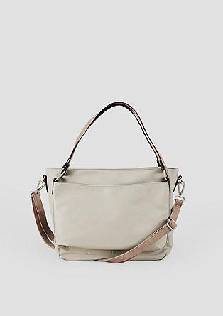 Hobo bag met contrastdetails