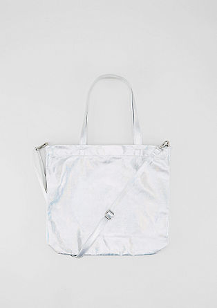 Shopper with a glittery finish from s.Oliver