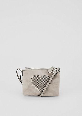 Mini bag met hart en gaatjesmotief