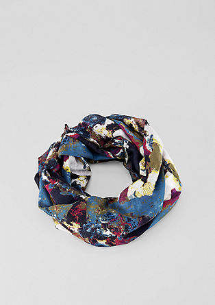 Colourful patterned snood from s.Oliver