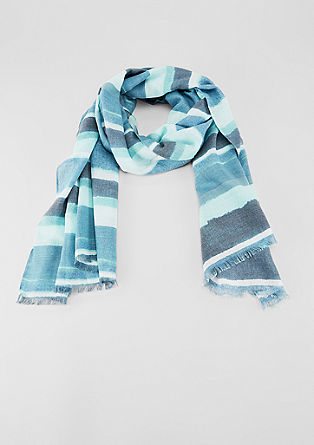 Geweven sjaal met strepen