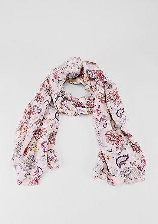 Geplisseerde geweven sjaal