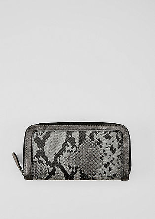 Zip Wallet mit Animal Structure
