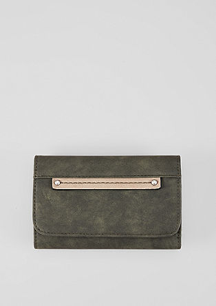 Wallet with decorative placket from s.Oliver