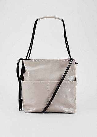 Hobo Bag in Glanz-Optik