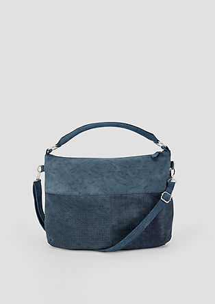Hobo bag with a textured pattern from s.Oliver