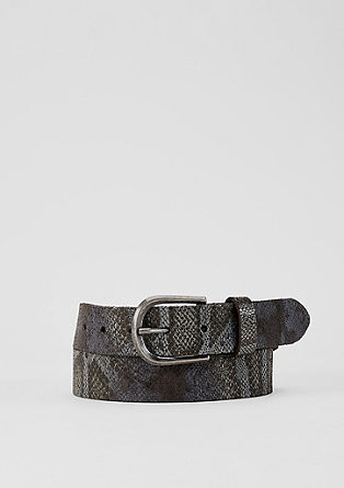 Leather belt in a snakeskin look from s.Oliver