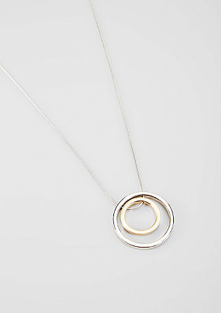 Long necklace with a round art pendant from s.Oliver