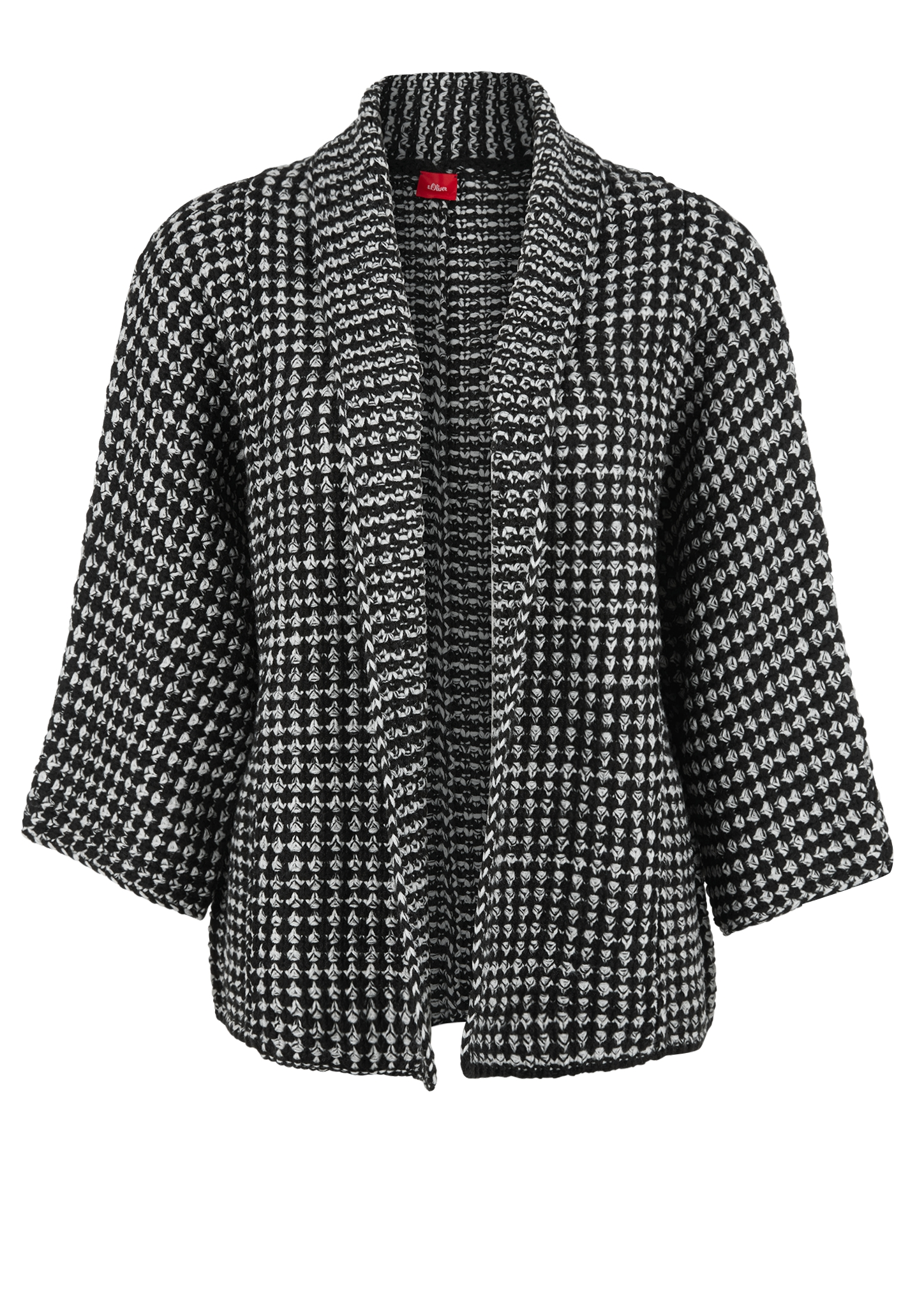 Poncho | Bekleidung > Pullover > Ponchos & Capes | Grau/schwarz | 100% polyacryl | s.Oliver