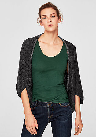 Chunky knit poncho with glitter trim from s.Oliver