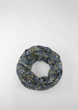 Loopschal mit floralem Print