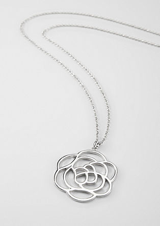 Necklace with a floral pendant from s.Oliver