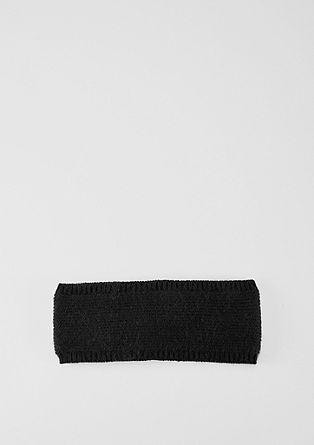 Gebreide haarband met voering van fleece