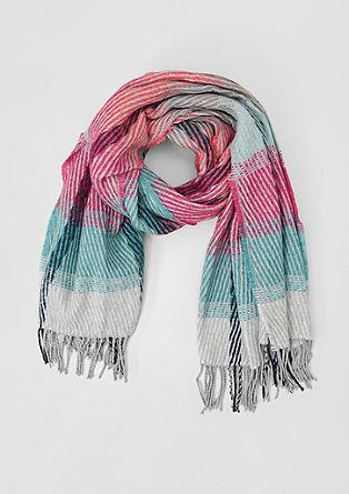 XXL-Schal aus Multicolour-Garn