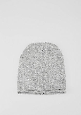 Fine knit hat with cashmere from s.Oliver