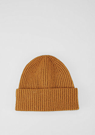 Warm knit hat with wool from s.Oliver