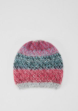 Mütze im Melange-Design