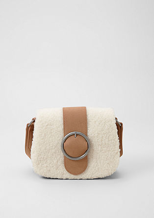 City bag with a plush trim from s.Oliver