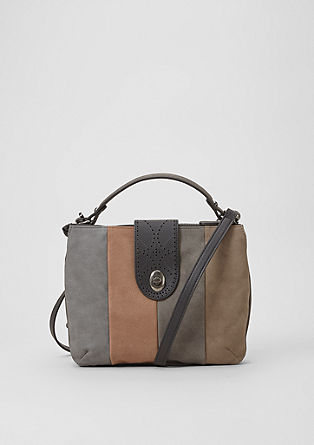 City bag with a striped finish from s.Oliver