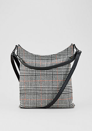 Shoulder bag in a Prince of Wales check design from s.Oliver