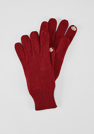 Knit gloves with cashmere from s.Oliver