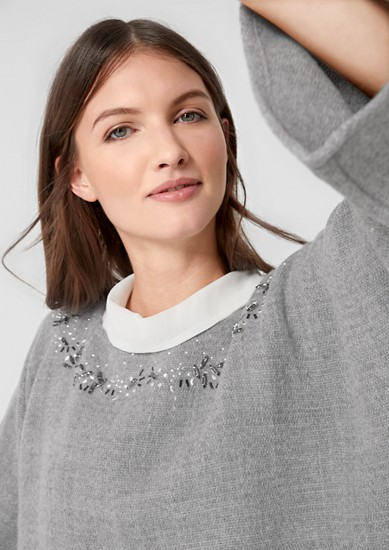 Oversized jumper with gemstones from s.Oliver