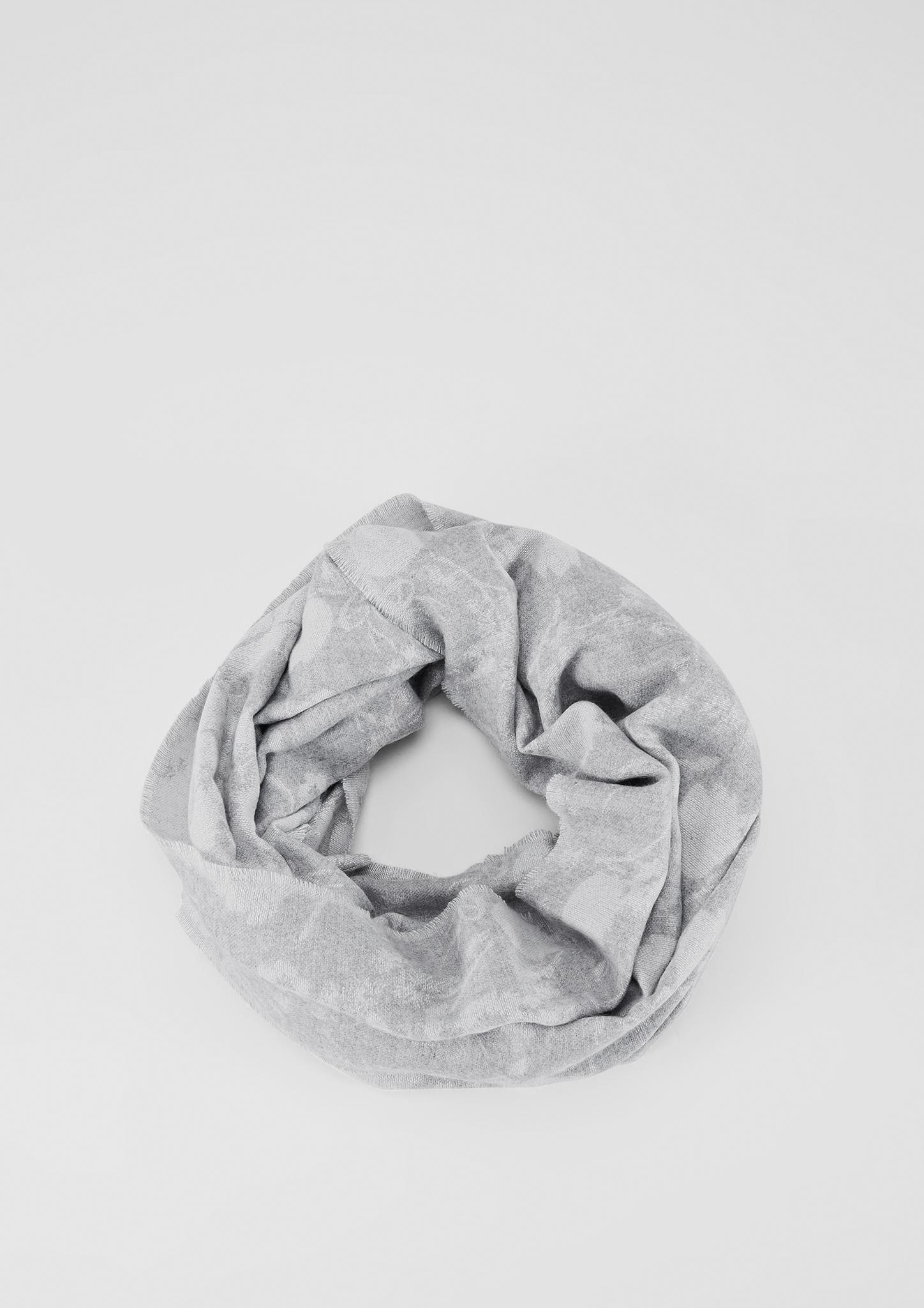 Loop | Accessoires > Schals & Tücher | Grau/schwarz | 65% polyester -  35% viskose | s.Oliver