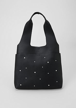 Shopping bag with decorative beads from s.Oliver