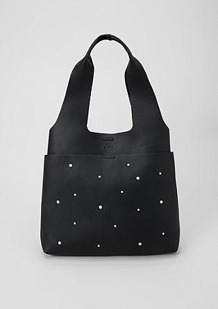 Shopping Bag mit Zierperlen