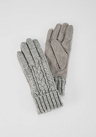 Woollen gloves with leather lining from s.Oliver