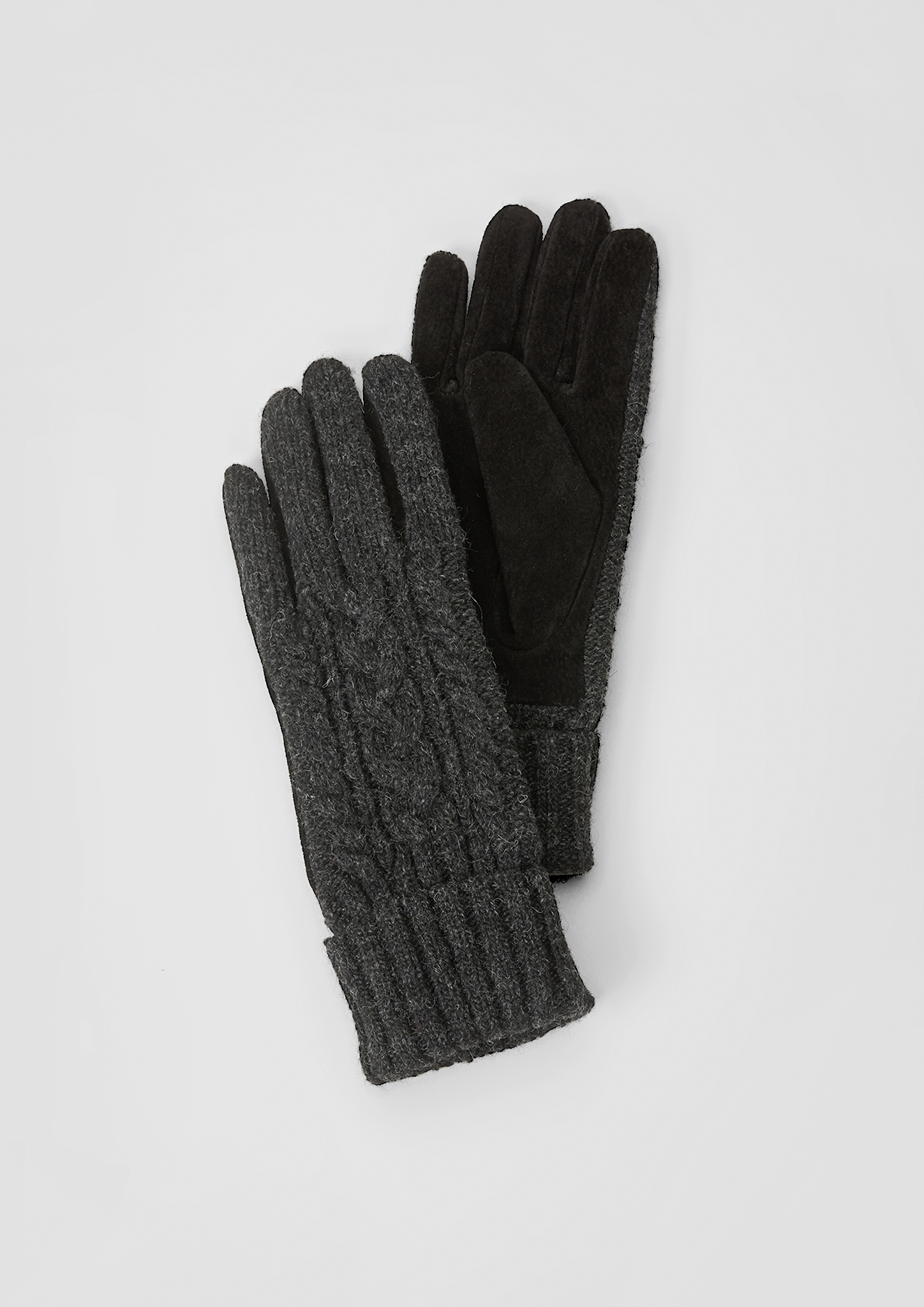 Wollhandschuhe | Accessoires > Handschuhe > Wollhandschuhe | Grau | Obermaterial a 70% wolle -  30% polyamid| obermaterial b 100% leder| futter 100% polyester | s.Oliver