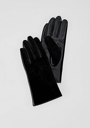 Elegant leather gloves from s.Oliver