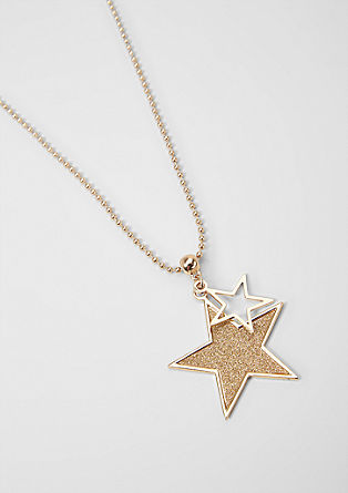 Ball chain necklace with star pendants from s.Oliver