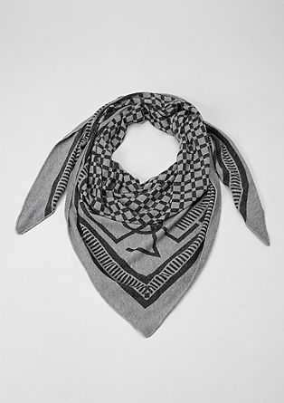 Soft triangular scarf containing wool from s.Oliver