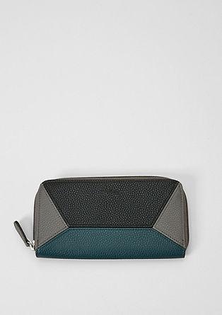 Peněženka na zip se vzhledem barevných bloků
