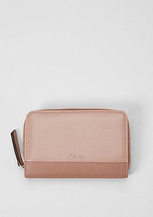 Zip Wallet mit Struktur-Effekt