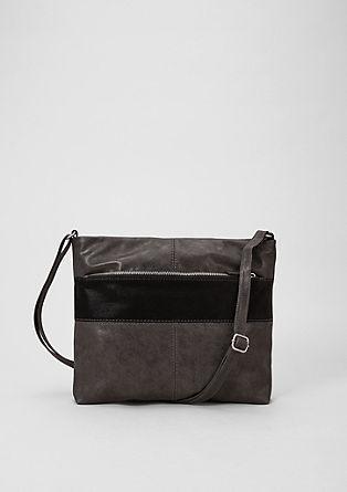 Nákupní kabelka zkombinace materiálů