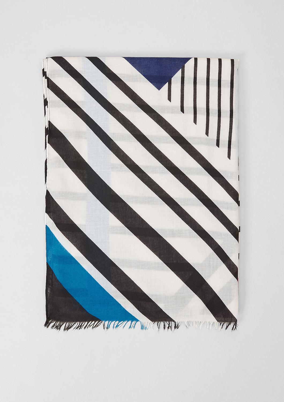 s.Oliver - Écharpe tissée à imprimé graphique - 4