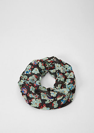 Woven floral snood from s.Oliver